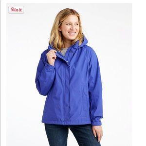 LL Bean Fleece lined rain jacket
